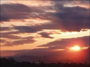 sunset for vapor trails20090903