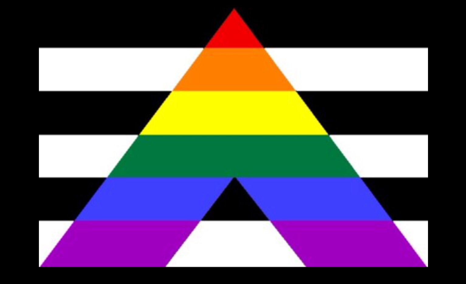 straight ally symbol